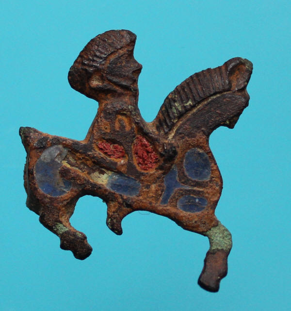 horse and rider brooch